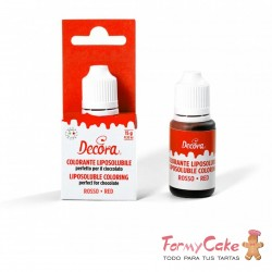 Colorante Líquido Rojo Liposoluble 15g. Decora