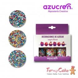 Set 3 Sprinkles Vintage, Unicornio, Fiesta De Cumpleaños, 90g. Azucren