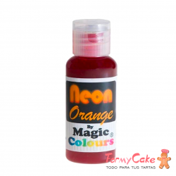 Colorante En Gel Neon Magic Colours Naranja 32gr