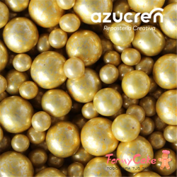 Mix Perlas Oro Metalizadas Azucren 4-6-8MM 90gr