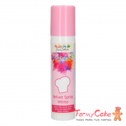 FunColours Velvet Spray -White - 100ml. Funcakes