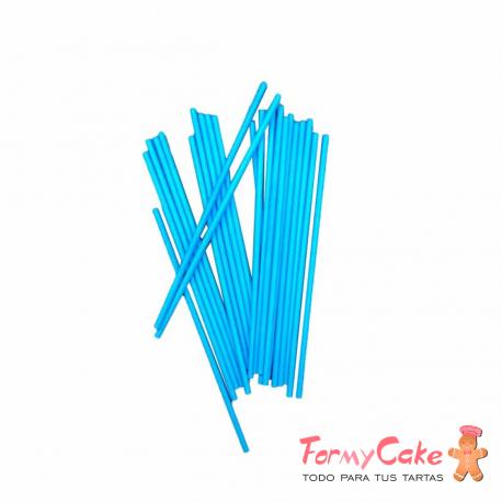 Palitos Lollipops Azul 15cm 20ud Azucren