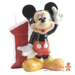 Vela Mickey Mouse nº1 Dekora
