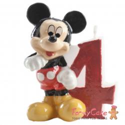 Vela Mickey Mouse nº4 Dekora