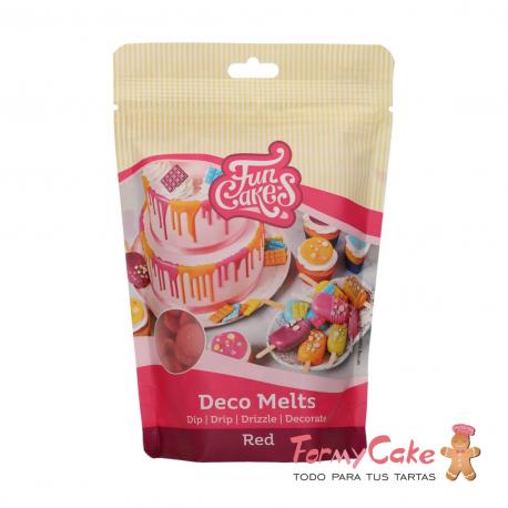 Deco Melts Rojo 250gr Funcakes