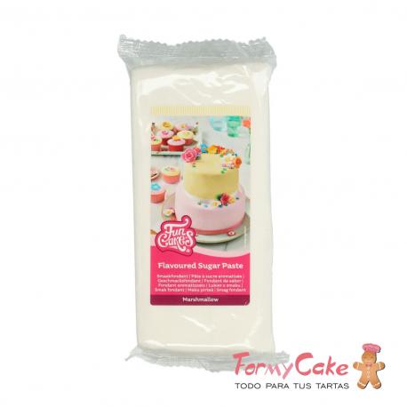 Fondant Funcakes Blanco Marshmallow 1Kg