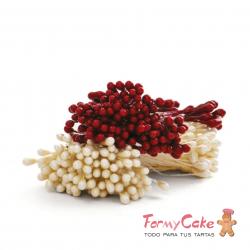 Pistilos Blanco Perla y Rojo 288ud Decora