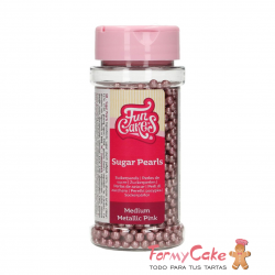 Perlas Rosas Metalizadas 80gr Funcakes