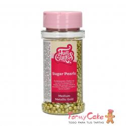 Perlas Oro Metalico 80gr Funcakes