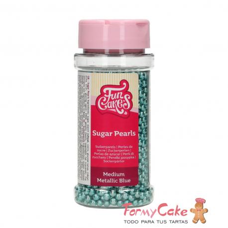 Perlas Azules Metalizadas 80gr Funcakes