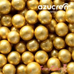 Perlas Oro Metalizadas 8MM 90gr Azucren