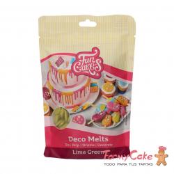 Deco Melts Verde Lima 250gr Funcakes