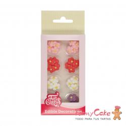 Set Decoraciones De Azúcar Pequeñas Flores, 32ud. Funcakes