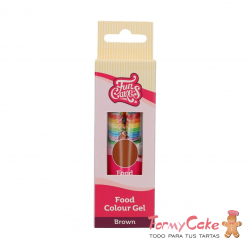 Colorante Gel Marrón 30g Funcakes