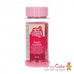 Cristales De Azucar Rosa 80gr Funcakes