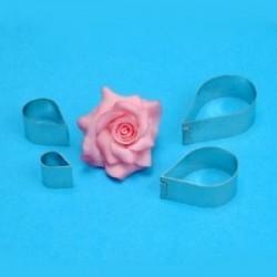 Cortantes Petalos Rosa 4ud PME