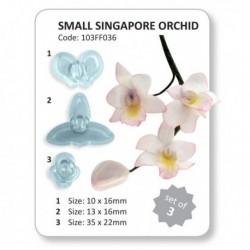 Cortantes Orquideas 3ud cm JEM