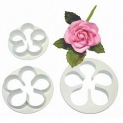 Cortantes Pétalos Rosas 3ud PME