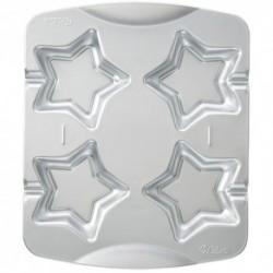 Molde Metal Wilton 4 Cookies Estrellas