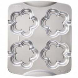 Molde Metal Wilton 4 Cookies Flor