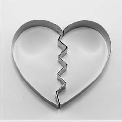 Cortante Corazón Roto 10cm Cutter