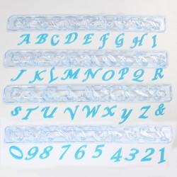 Cortantes Alfabeto y Números Mayúsculas Cursiva FMM