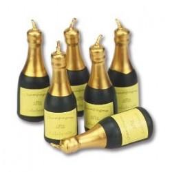 Velas para Tartas Botella Champagne 6ud PME