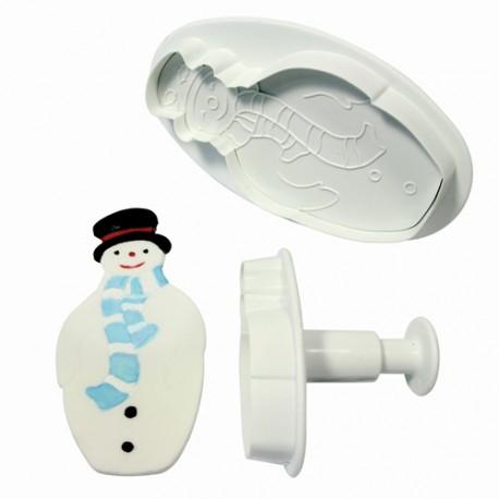 Cortantes Muñeco Nieve 2ud PME