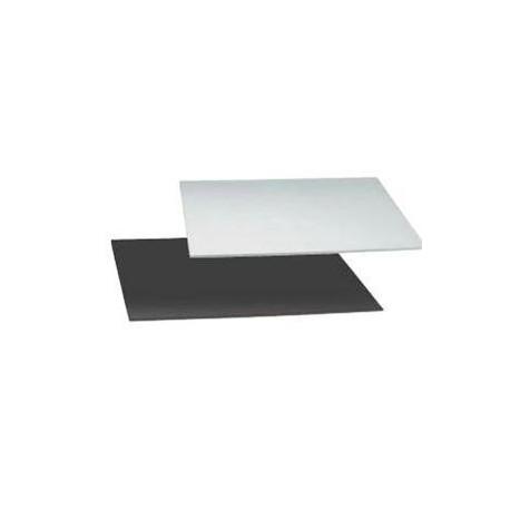 Base Rectangular para Tartas Negra/Plata 20x30cm