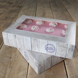 Caja Decorada para Tartas 36x25x8cm 2ud Funcakes