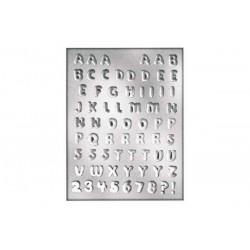 Molde de Plástico Alfabeto Silikomart