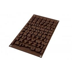 Molde Silicona Letras Chocolate Silikomart