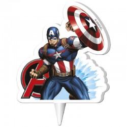 Vela Capitán América Dekora 7cm