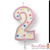 Velas para Tartas Rosa Número 2 PME