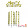 Set de Velas y Happy Birthday Rosas 17ud PME