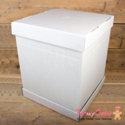 Caja Blanca para Tartas 37x37x45cm Funcakes