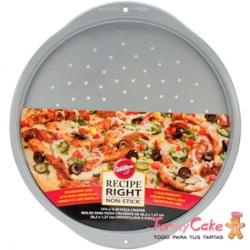 Molde Perforado para Pizza Crujiente 36cm Wilton