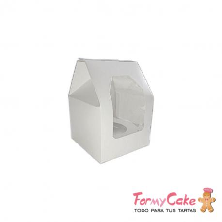 Caja 1 Cupcakes Blanca