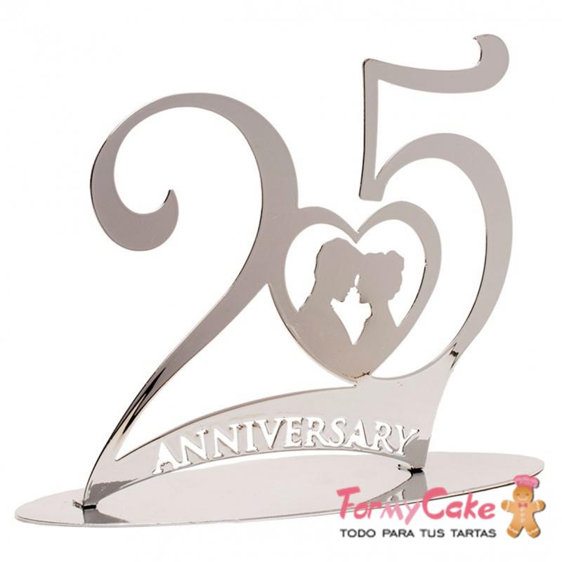 Figura 25 aniversario bodas de plata dekora art culos - Marcos de plata para bodas ...