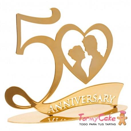 figura 50 aniversario Bodas de oro Dekora