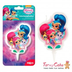 Vela 2D Shimmer And Shine 7cm Dekora