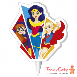 Vela 2D Super Hero Girls, 7,5cm Dekora