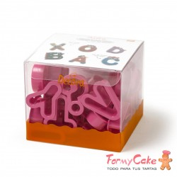 Kit 27 Cortantes Alfabeto 5,2x2,2cm Decora