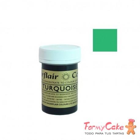Colorante Pasta Turquoise Sugarflair 25gr