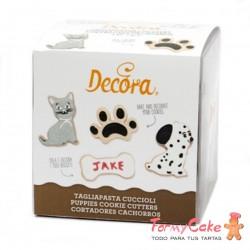 Kit 4 Cortantes Plastico Cachorros Decora