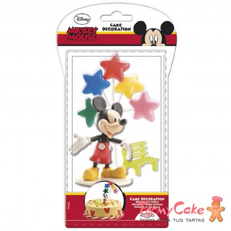 Kit Mickey Mouse, Globos y Banco Dekora