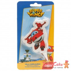 Vela 2D Super Wings Jett 7,5cm Dekora