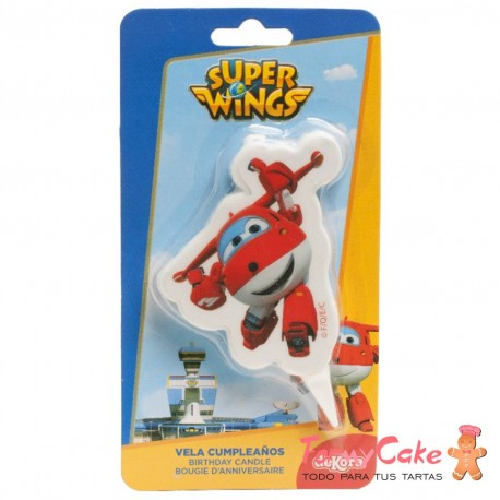Vela 2D Super Wings Jett, 7,5cm Dekora